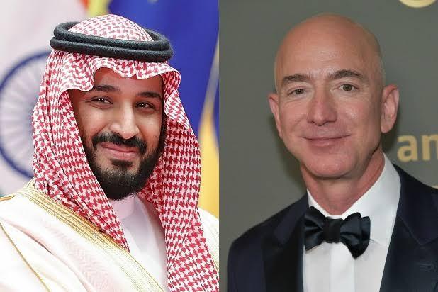 Saudi Prince Bin Salman and Jeff Bezos